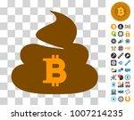 bitcoin shit icon with bonus... | Shutterstock .eps vector #1007214235