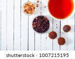herbal tea  brown sugar ... | Shutterstock . vector #1007215195