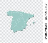 spain map   high detailed... | Shutterstock .eps vector #1007218219