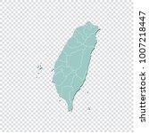 taiwan map   high detailed... | Shutterstock .eps vector #1007218447
