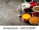 set of different sauces  ...   Shutterstock . vector #1007218987