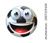 football  soccer ball with... | Shutterstock . vector #1007219104