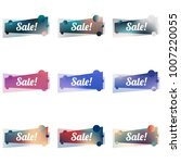 abstract colorful sale banners. ... | Shutterstock .eps vector #1007220055