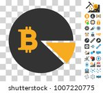 bitcoin pie chart icon with...