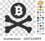 bitcoin death cross pictograph... | Shutterstock .eps vector #1007220895