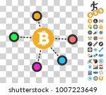 bitcoin net nodes icon with...