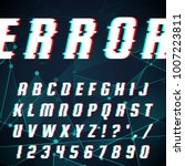 vector set of letters in the... | Shutterstock .eps vector #1007223811