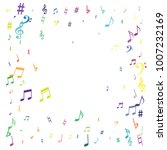 colorful flying musical notes... | Shutterstock .eps vector #1007232169