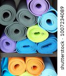 close up colorful yoga mat... | Shutterstock . vector #1007234089
