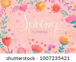 spring is coming card ... | Shutterstock .eps vector #1007235421