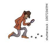 detective character design ... | Shutterstock .eps vector #1007236594