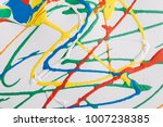 colorful abstract paint   Shutterstock . vector #1007238385