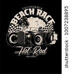vector hot rod racing... | Shutterstock .eps vector #1007238895