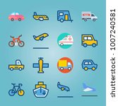 icon set about transport. with... | Shutterstock .eps vector #1007240581