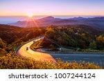beautiful morning mountain ... | Shutterstock . vector #1007244124