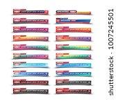 set banner for breaking news...   Shutterstock .eps vector #1007245501