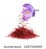 dried saffron spice isolated on ... | Shutterstock . vector #1007246905