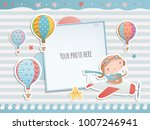 holiday card design with pirate ... | Shutterstock .eps vector #1007246941