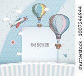 holiday card design with... | Shutterstock .eps vector #1007246944