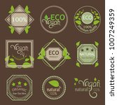 eco label sticker pack for... | Shutterstock .eps vector #1007249359