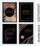 set of rose gold design... | Shutterstock .eps vector #1007249587