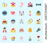 icons set about wedding. with... | Shutterstock .eps vector #1007254087