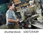 mechanical technician worker at ... | Shutterstock . vector #100725439