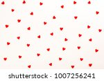 background with red hearts.... | Shutterstock . vector #1007256241