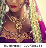 portrait of beautiful indian... | Shutterstock . vector #1007256355