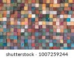 vintage colorful wood wall... | Shutterstock . vector #1007259244