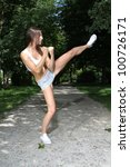 woman who do sport | Shutterstock . vector #100726171