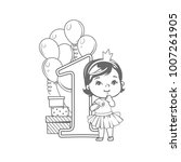 first year birthday party. one... | Shutterstock .eps vector #1007261905