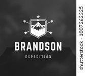 mountains logo emblem vector... | Shutterstock .eps vector #1007262325
