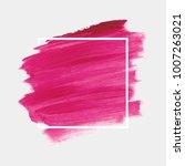 logo brush painted acrylic...   Shutterstock .eps vector #1007263021