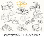 a collection of various cheeses.... | Shutterstock .eps vector #1007264425