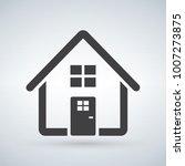 home icon vector. house. enter  ...