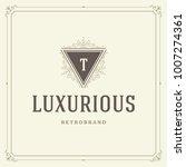 ornament monogram logo design... | Shutterstock .eps vector #1007274361