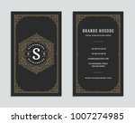 luxury business card and... | Shutterstock .eps vector #1007274985