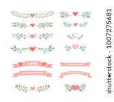 collection of flourishes... | Shutterstock .eps vector #1007275681