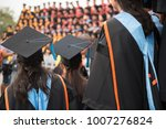 graduates wear graduation gowns ... | Shutterstock . vector #1007276824