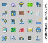 icons set about travel. with... | Shutterstock .eps vector #1007279491