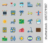 icons set about travel. with... | Shutterstock .eps vector #1007279587