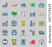 icons set about travel. with... | Shutterstock .eps vector #1007279629