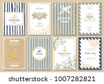 vintage creative cards template ... | Shutterstock .eps vector #1007282821
