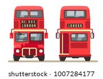 red traditional london bus... | Shutterstock .eps vector #1007284177