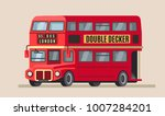 london double decker city bus... | Shutterstock .eps vector #1007284201