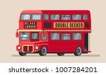 london double decker city bus... | Shutterstock .eps vector #1007284201