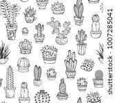 vector seamless pattern of hand ... | Shutterstock .eps vector #1007285041