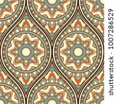 seamless pattern with ethnic... | Shutterstock .eps vector #1007286529