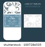 envelope for wedding invitation ... | Shutterstock .eps vector #1007286535